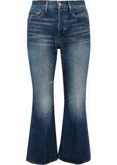 FRAME Rigid Re-release Le Cropped High-rise Slim-leg Jeans
