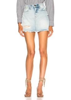 FRAME Rigid Re Release Mini Skirt