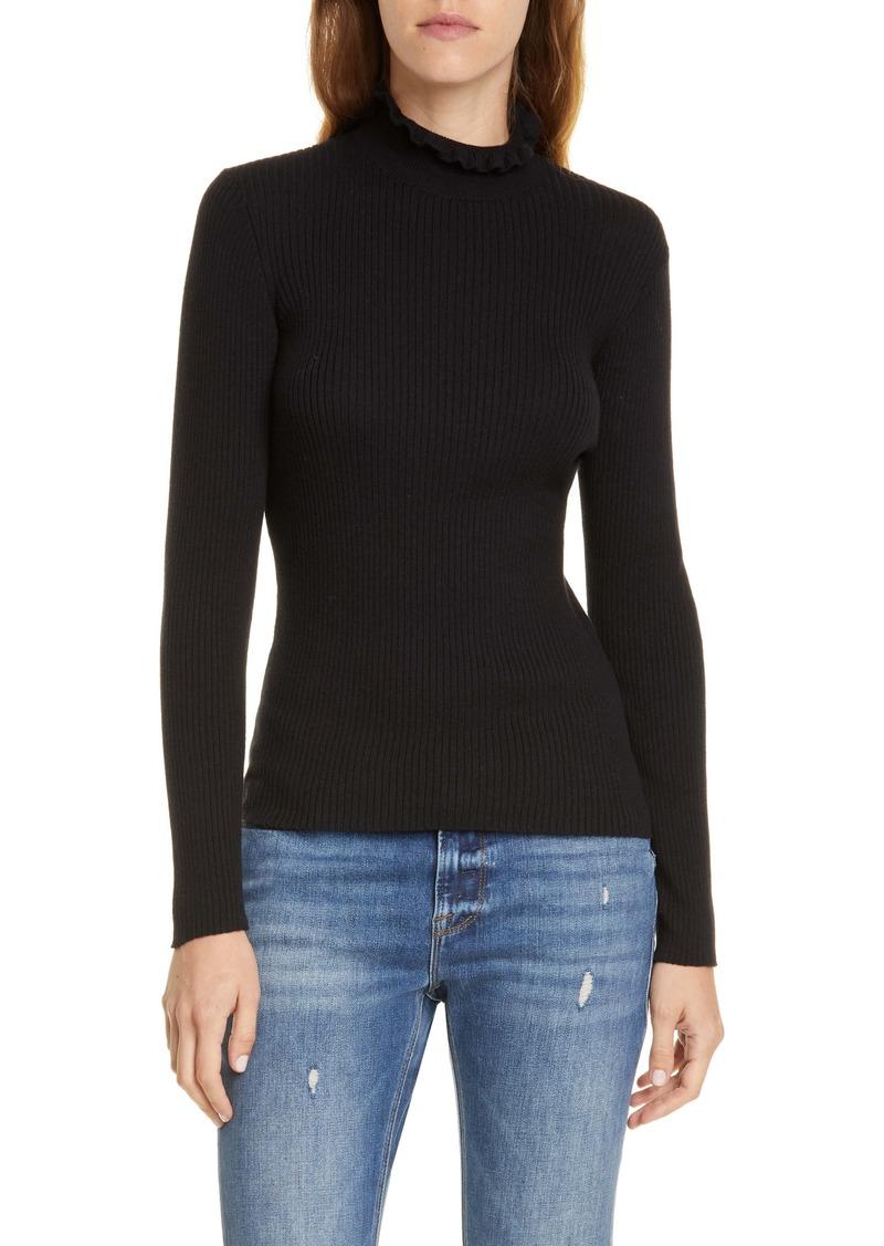 FRAME Ruffle Neck Sweater