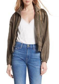 FRAME Ruffle Waist Crop Jacket
