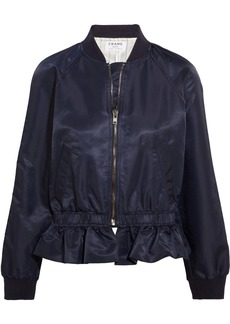 FRAME Ruffled shell bomber jacket