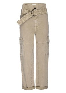 FRAME Safari Belted Cropped Pants
