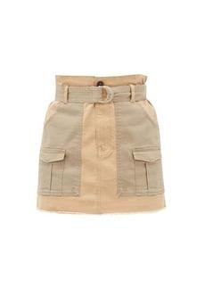 Frame Safari cotton-blend twill mini skirt
