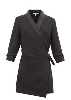 Frame Satin-lapel crepe wrap dress
