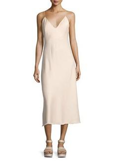 FRAME Satin Tank Midi Dress