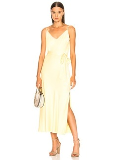 FRAME Satin Tie Slip Dress