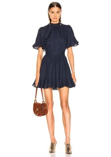 FRAME Scallop Flounce Dress