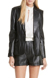 FRAME Schoolboy Leather Blazer