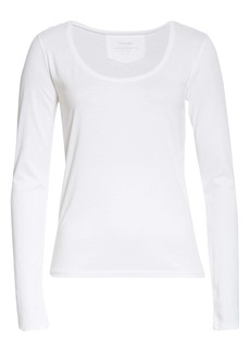 FRAME Scoop Neck Long Sleeve T-Shirt
