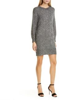 FRAME Sequin Long Sleeve Sweater Minidress