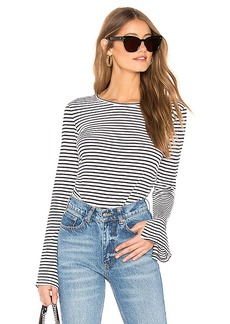 FRAME Shirred Bell Sleeve Tee