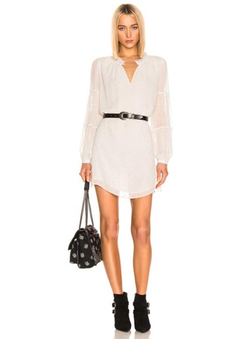 FRAME Shirred Mock Dress
