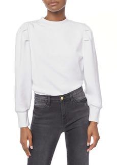 FRAME Shirred Shoulder Sweatshirt