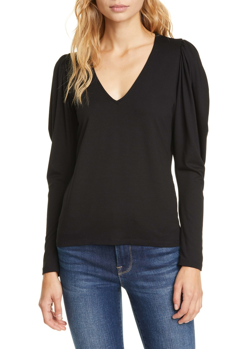 FRAME Shirred Shoulder Tee
