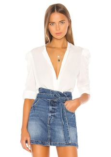 FRAME Shirred Sleeve Button Up