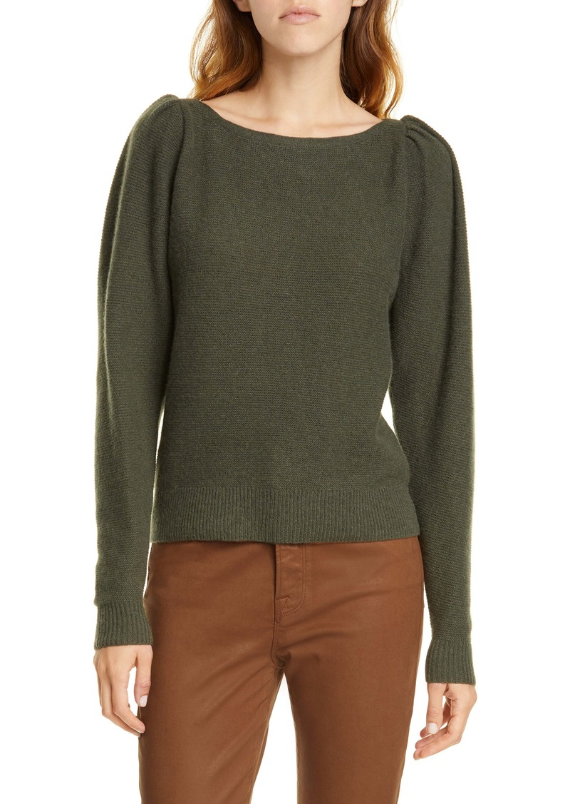 FRAME Shirred Sleeve Cashmere & Wool Sweater (Nordstrom Exclusive)