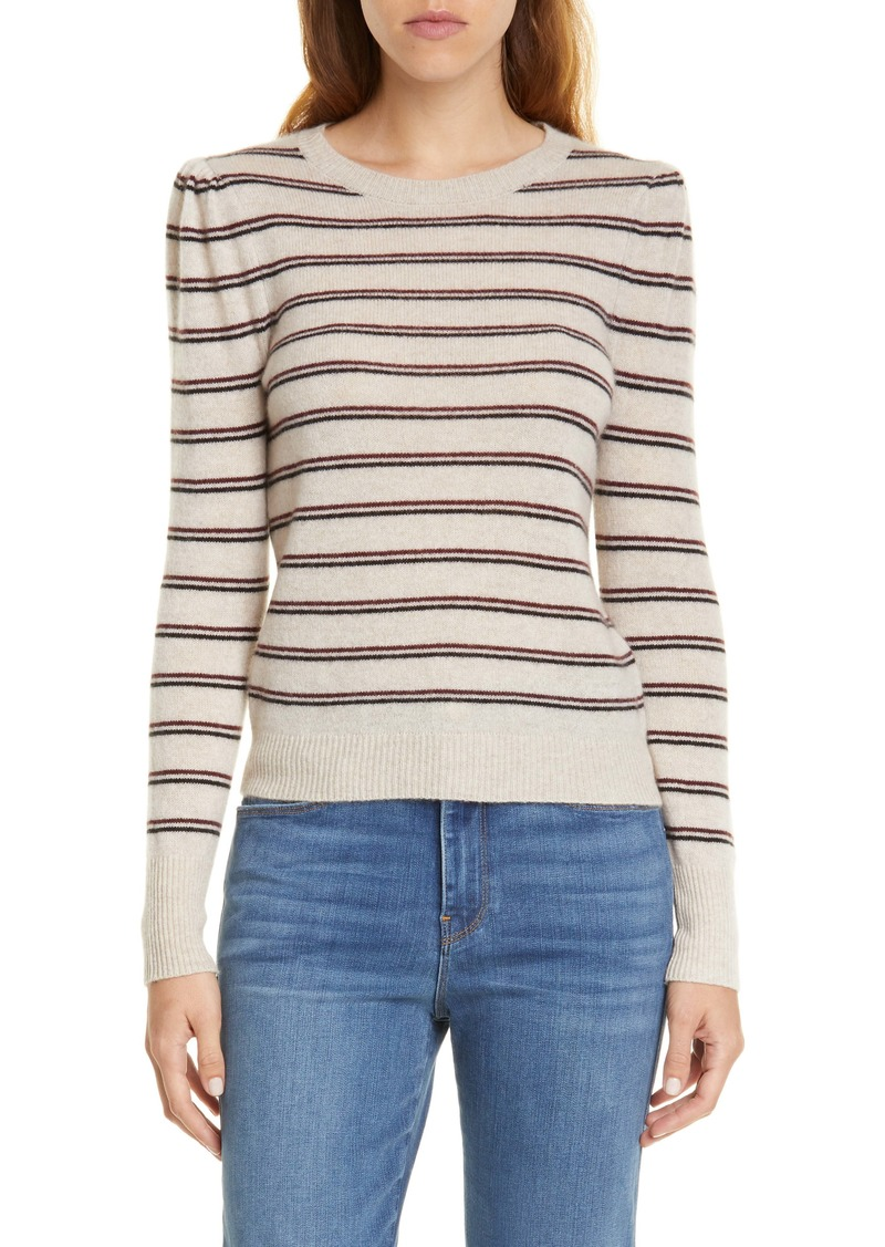 FRAME Shirred Stripe Cashmere Sweater (Nordstrom Exclusive)