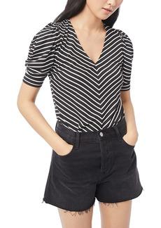 FRAME Shirred Stripe Top