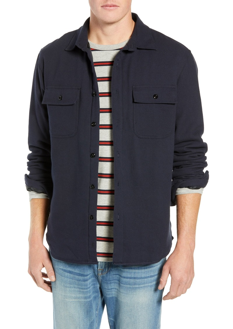 FRAME Shirt Jacket with Quilted Lining