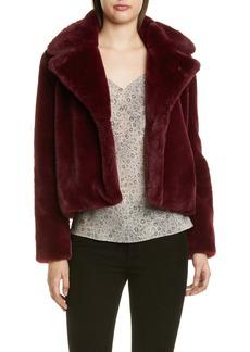 FRAME Short Faux Fur Coat (Nordstrom Exclusive)