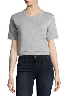 FRAME Short-Sleeve Cropped Sweatshirt