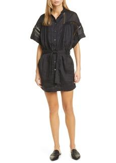 FRAME Short Sleeve Shirtdress
