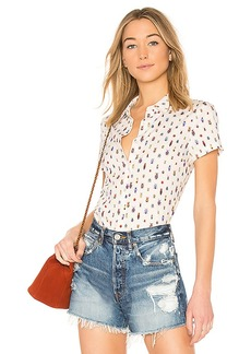 FRAME Shrunken Short Sleeve Top