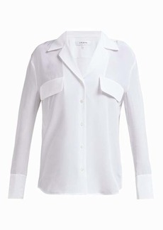 Frame Silk V-neck shirt
