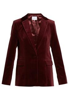 Frame Single-breasted velvet blazer