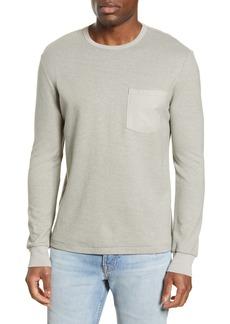 FRAME Slim Fit Cotton Blend Long Sleeve Crewneck T-Shirt