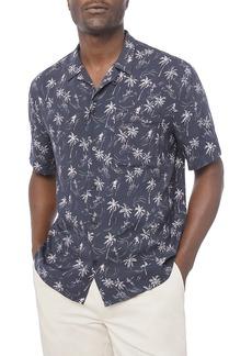 FRAME Regular Fit Tropical Short Sleeve Button-Up Camp Shirt