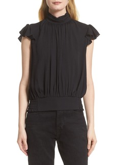 FRAME Smocked Ruffle Blouse (Nordstrom Exclusive)