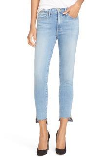 FRAME Step Hem High Waist Skinny Jeans (Jackson)