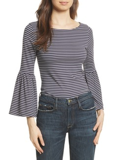 FRAME Stripe Bell Sleeve Top