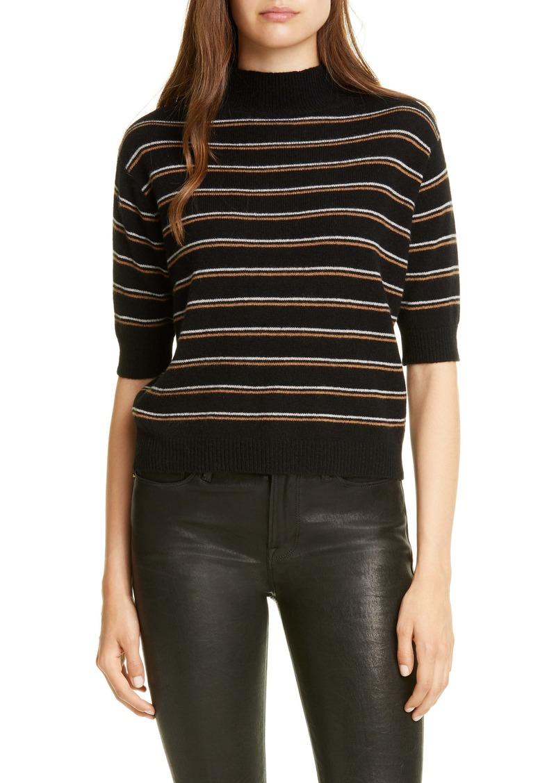 FRAME Stripe Cashmere Crop Sweater (Nordstrom Exclusive)