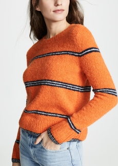 FRAME Stripe Mohair Sweater
