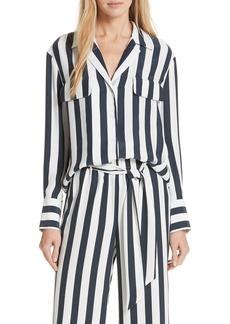 FRAME Stripe Silk Shirt
