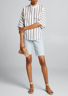 FRAME Striped Clean Safari Shirt