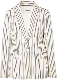 FRAME Striped Crepe Blazer