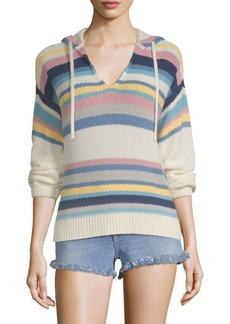 FRAME Striped Knit Hoodie