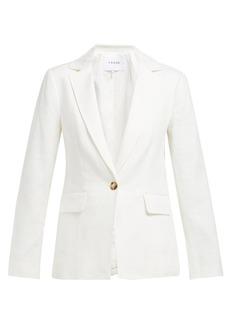 Frame Striped single-breasted linen-blend blazer