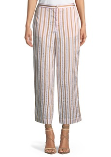 FRAME Striped Wide-Leg Pants