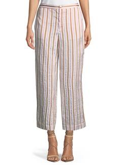 FRAME Striped Wide-Leg Pants