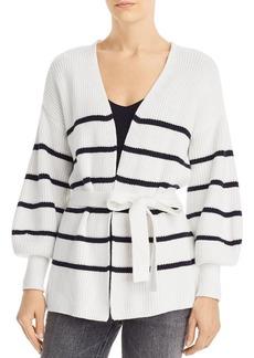 FRAME Striped Wrap Sweater