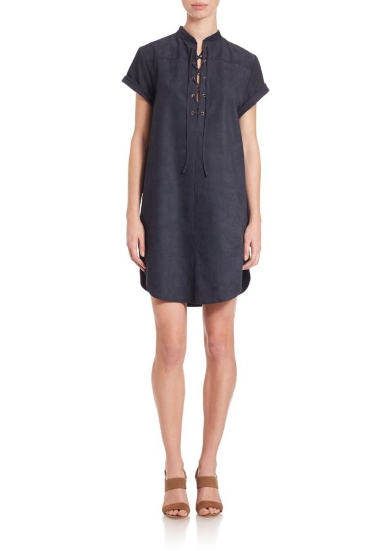 FRAME Suede Shirtdress