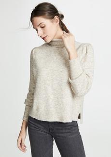 FRAME Swingy Rib Turtleneck Sweater