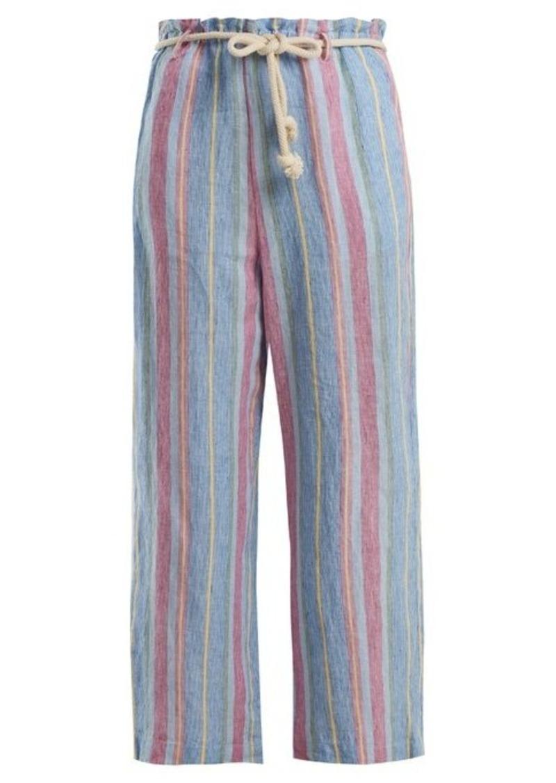 Frame Tie-waist linen trousers