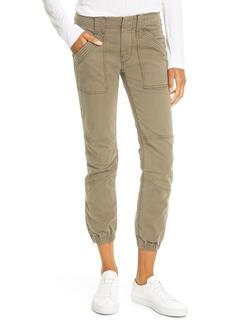 FRAME Trapunto Stitch Cuffed Moto Pants