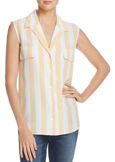 FRAME True Striped Silk Top