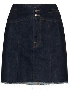 FRAME Tux waist denim mini skirt